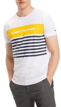 6e256fa9585 Tommy Hilfiger Stripe Logo Graphic Tee in 2019