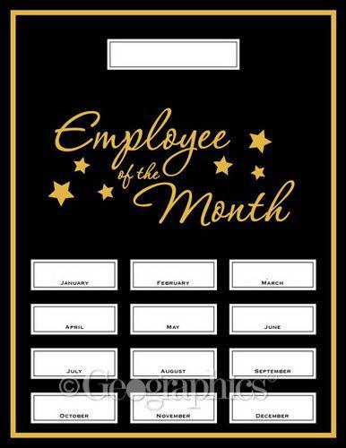 Employee of the Month Award Kit, 13 Pcs Printable Certificates - copy printable employee of the month certificate