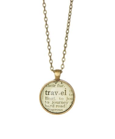 Paper towns vintage bronze travel small dictionary pendant bronze travel small dictionary pendant necklace mozeypictures Gallery
