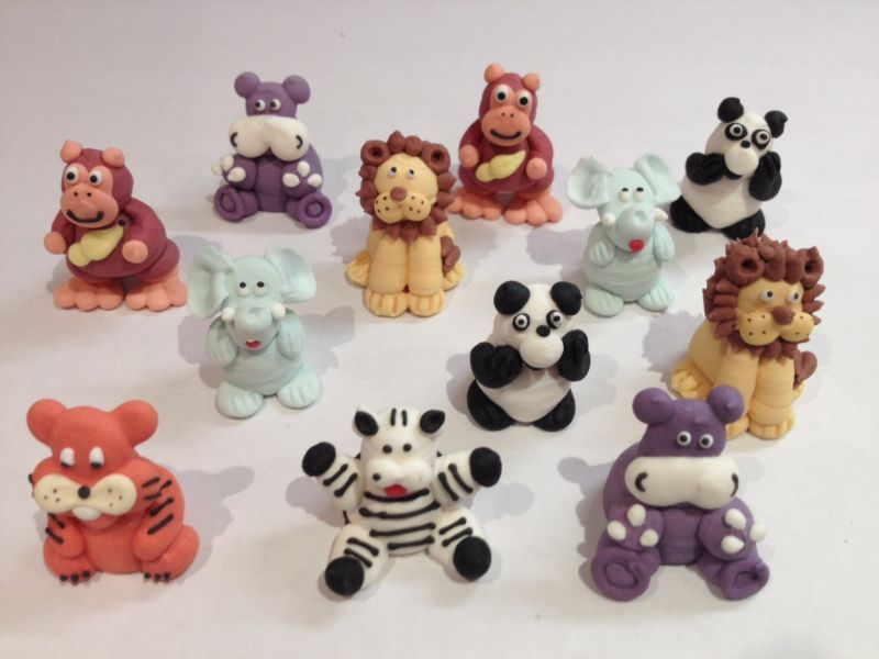 Royal Icing Jungle Animals Figure Piping Critters In
