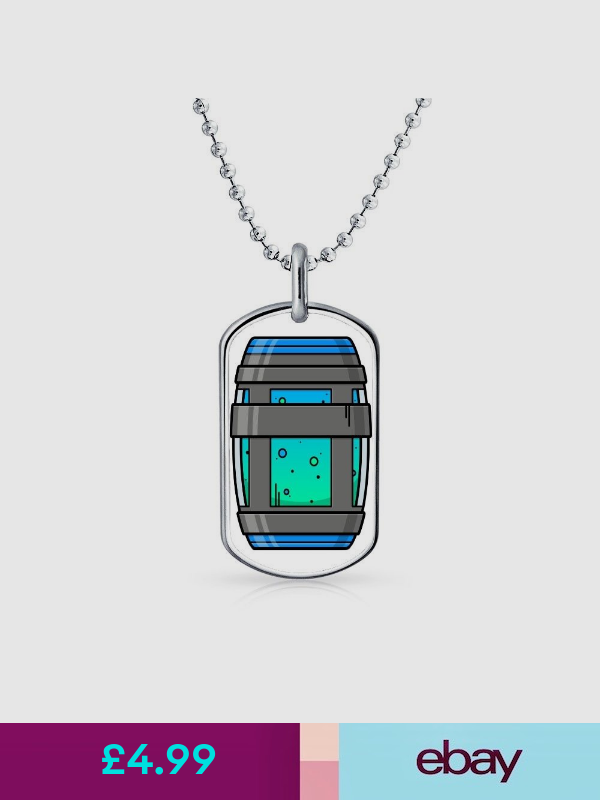Fortnite Battle Royale Chug Jug Xbox Ps4 Gamer Dog Tag Pendant Necklace Chain Chains Necklace Necklace Jewellery And Watches