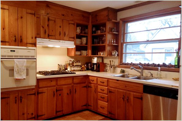 vintage knotty pine kitchen cabinets search before and after painting wood
