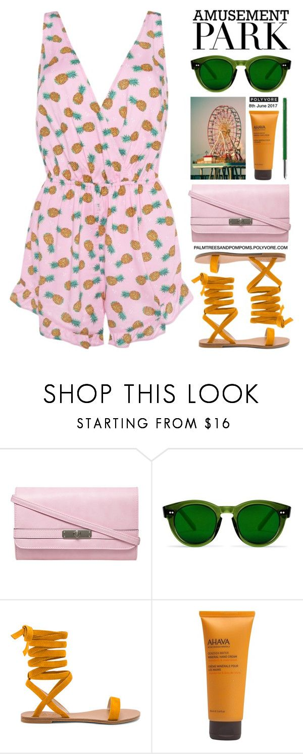 """""""Amusement Park"""" by palmtreesandpompoms ❤ liked on Polyvore featuring Dorothy Perkins, Raye, Ahava and HAY"""