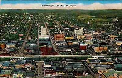 Abilene Texas Tx 1940s Aerial View Downtown Collectible Antique Vintage Postcard Moodys Vintage Postcards Aerial View Abilene Texas Abilene