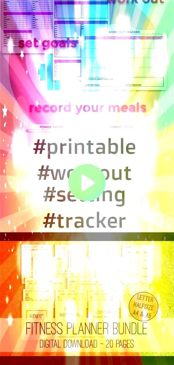 #printable #foodfitne #planner #setting #tracker #workout #fitness #bundle #weekly #health #fitne4 #...