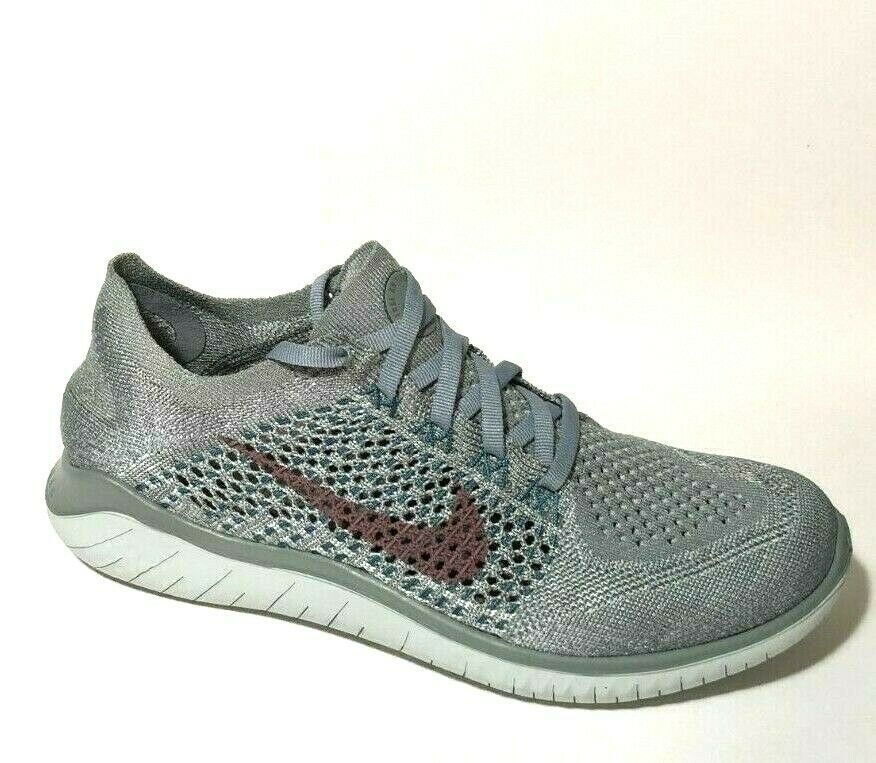 Details About Nike Free Rn Flyknit 2018 Womens Running Shoes 7 5 Mica Green Mauve 942839 300 In 2020 Womens Running Shoes Nike Free Rn Nike Free
