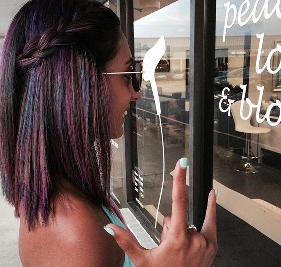 Oil Slick Hair Color For Brunettes