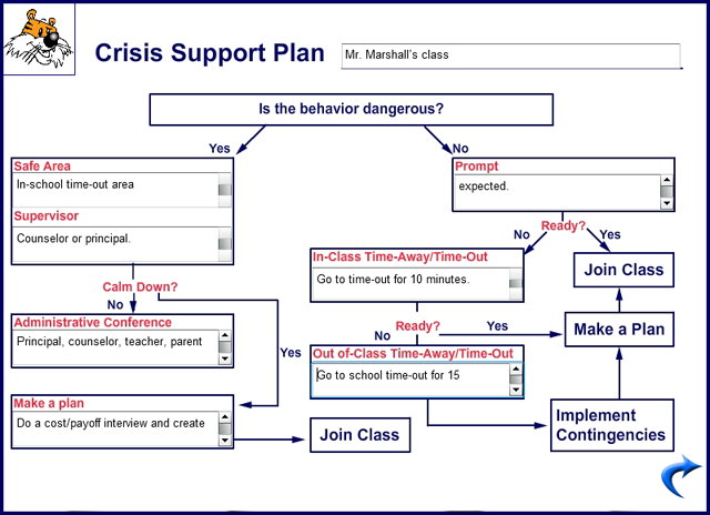 Large example image of the crisis support plan card for It support plan template