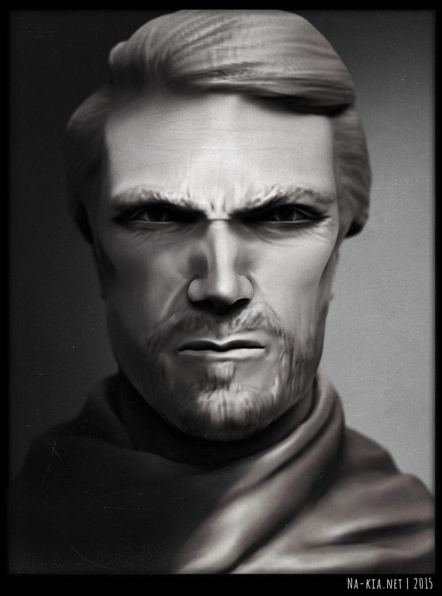 Clint Eastwood by Na-kia using Zbrush, Maya and Photoshop