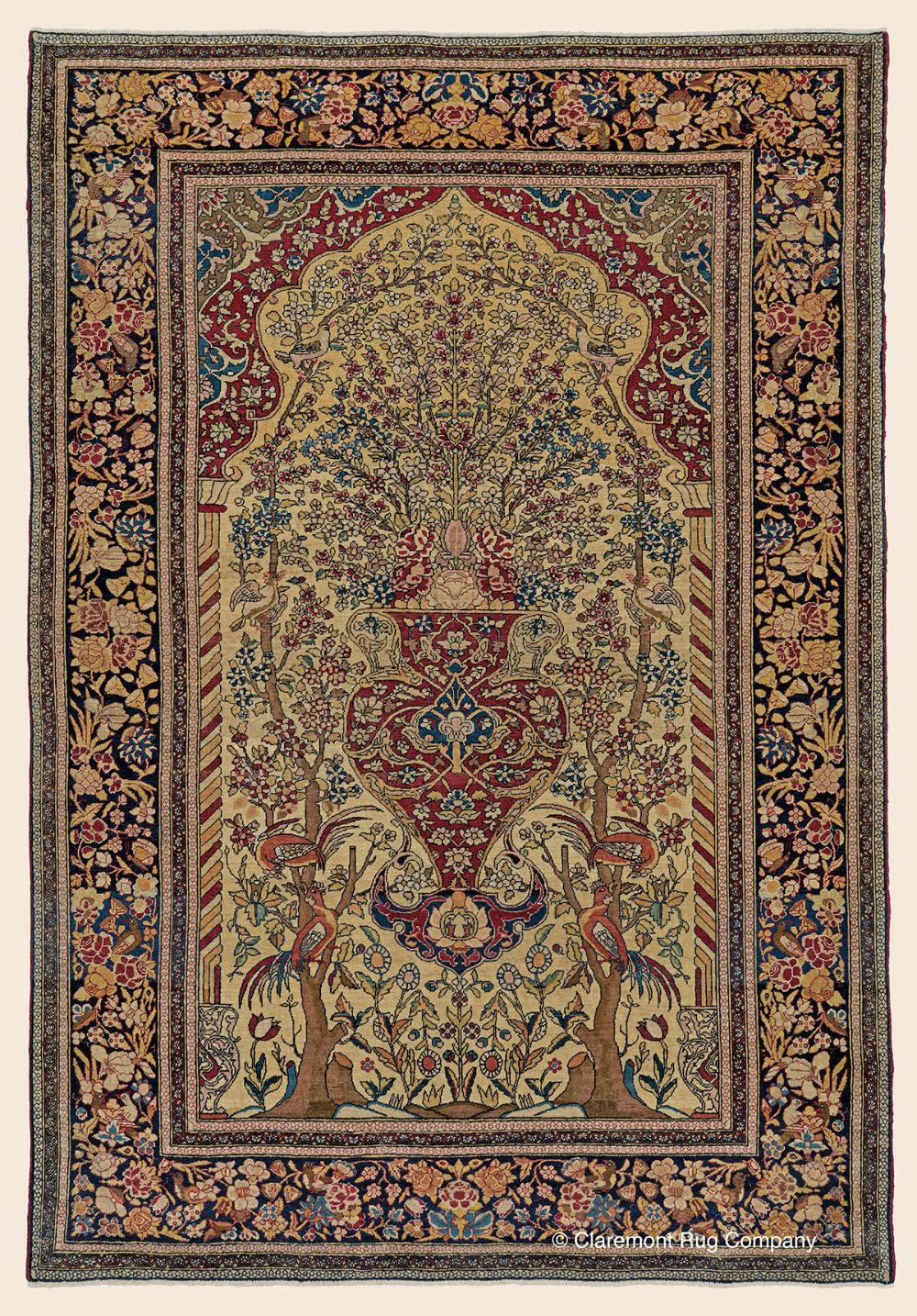Isfahan Vase Rug 4 9 X 6 10