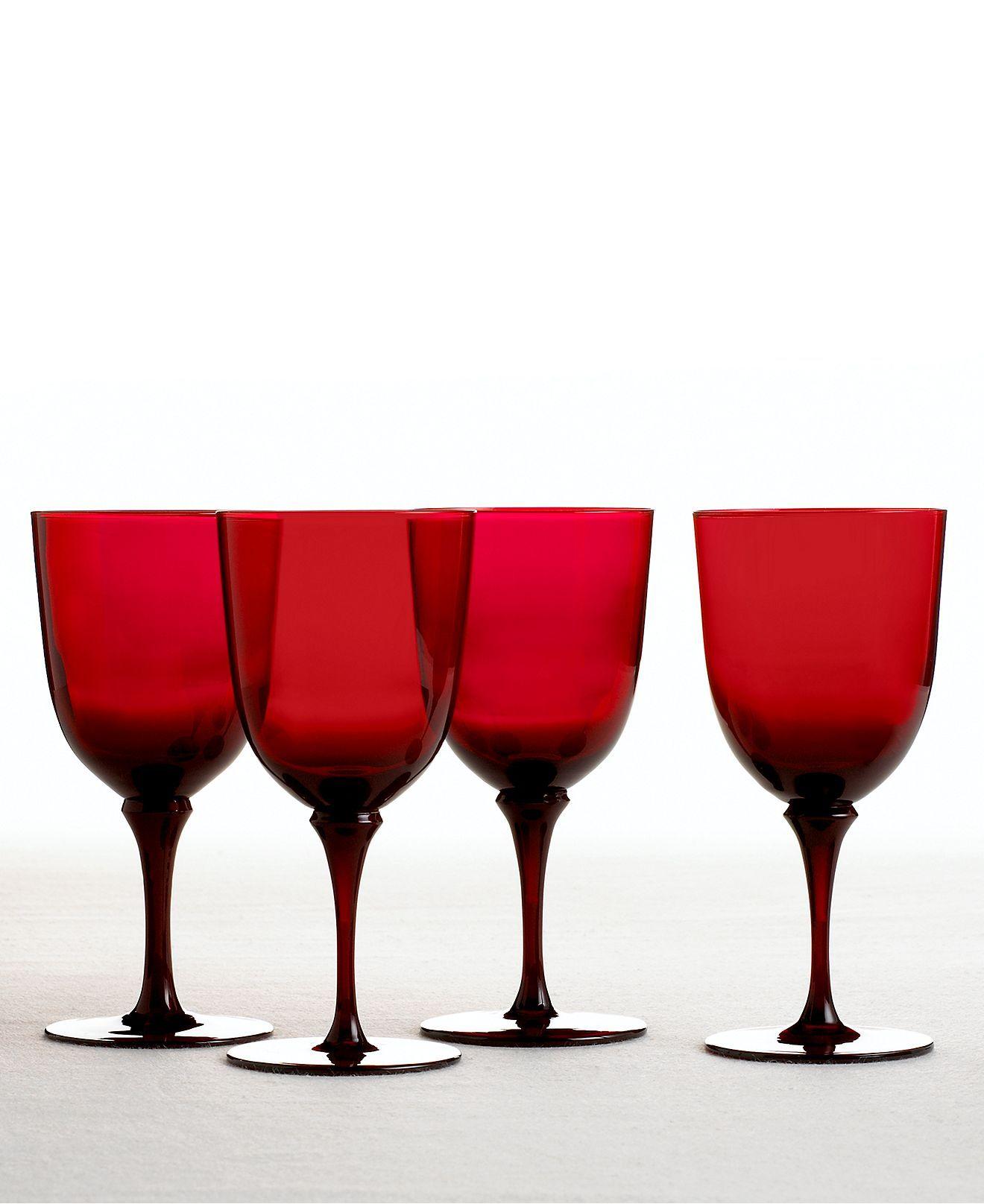 Martha Stewart Collection Wine Glasses Set Of 4 Red Goblets Martha Stewart Collection Dining Entertaining Macys Wine Collection Red Glassware