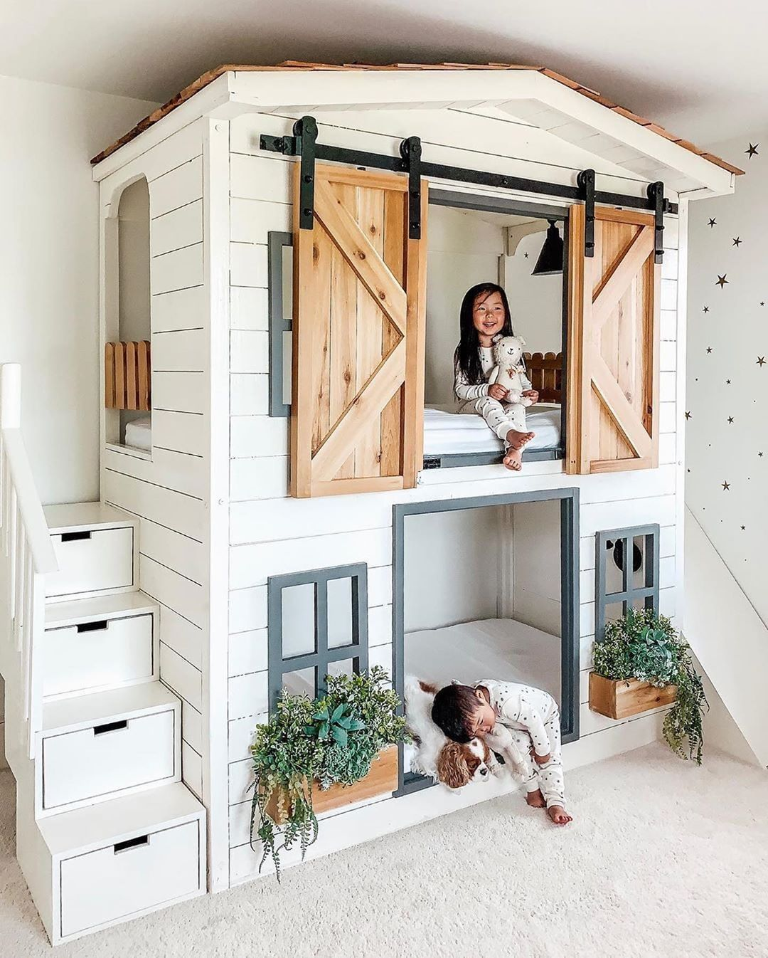 nursery decor kids room (2)   House bunk bed, Girl bedroom ... on Bed Ideas For Small Rooms  id=51214