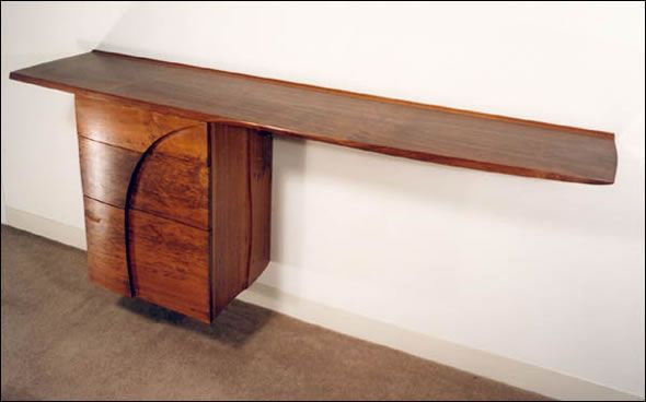 Fine Custom Woodworking Cantilevered Credenza 36 Wall Mounted X 26 X 72 Drawer Fronts