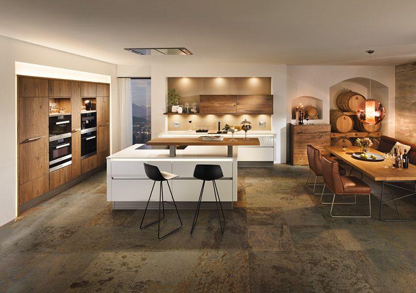 Breitschopf macht ihre küche → barrique alteiche ausstellungsküche designerküche designerküchen einbauküche holzküche küche küchen
