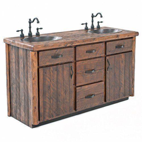 Rustic Real Log Vanity 48 72 Rustic Bathroom Vanities
