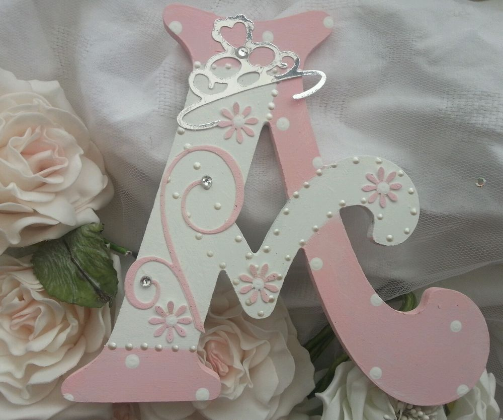 pretty personalised girls princess wooden letter name in With girls wooden letters
