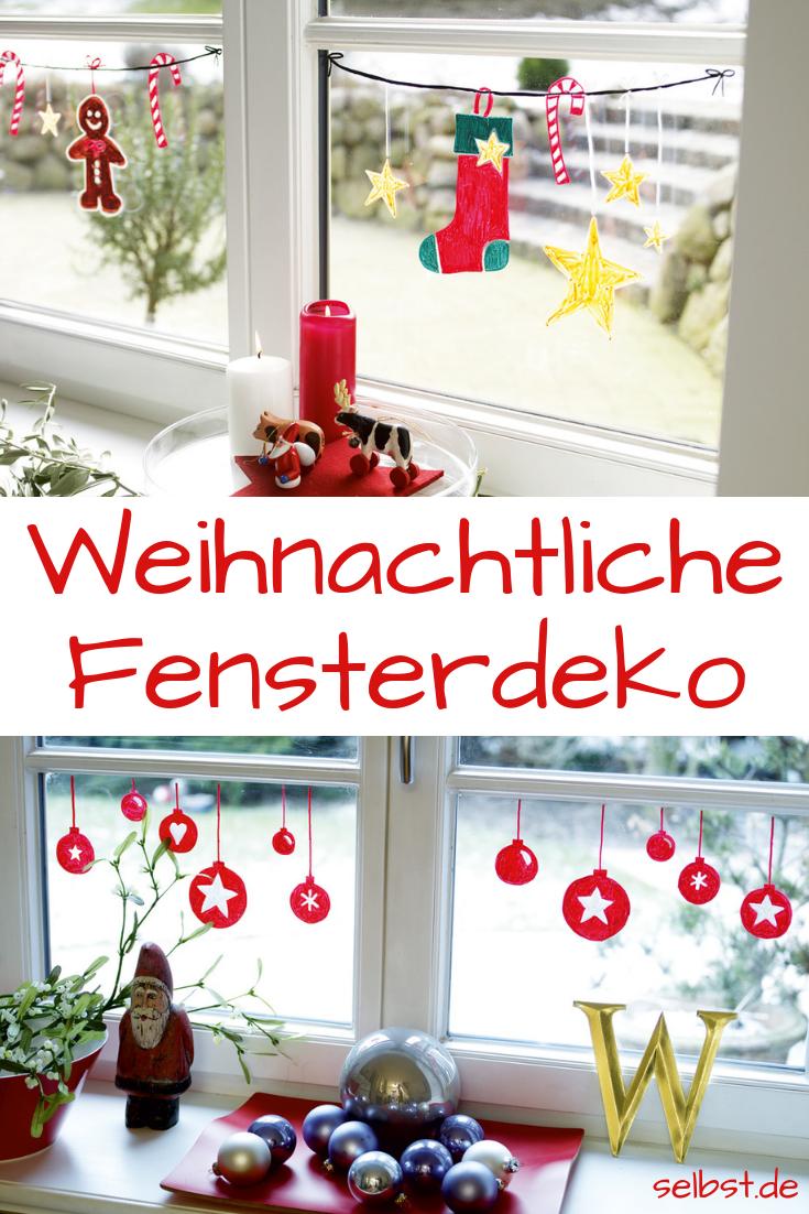 Weihnachtliche Deko musst du nicht aufwendig basteln. Für diese Fensterdeko benötigst du lediglich einen Edding und eine Stunde Zeit!  #weihnachten #fensterdeko #weihnachtsdekoration #advent #malen #edding #selbst #fensterdekoweihnachten