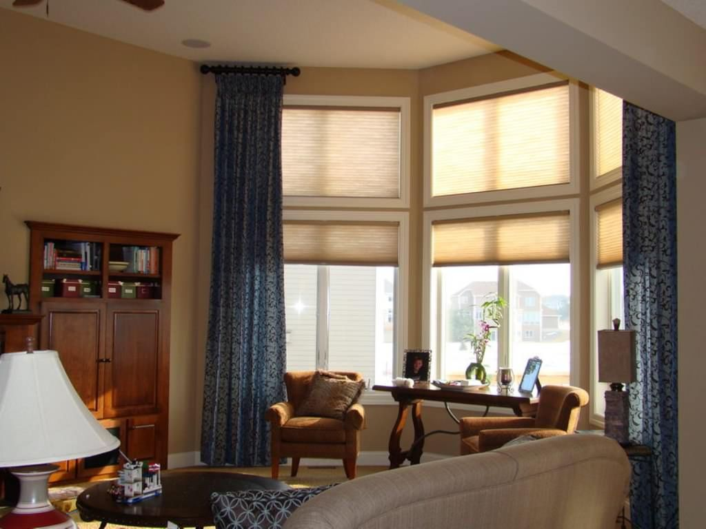 The Lovely Of Ornamental Bay Window Shades Living Room Windows Curtains Living Room Blinds For Large Windows