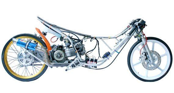 Drag Bike Motor Gambar