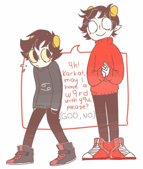 karkat and kankri in openbound i always enjoyed reading his