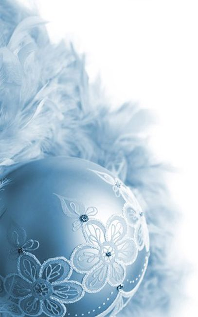 cut out lace with paint embellishments lovely - Light Blue Christmas Ornaments