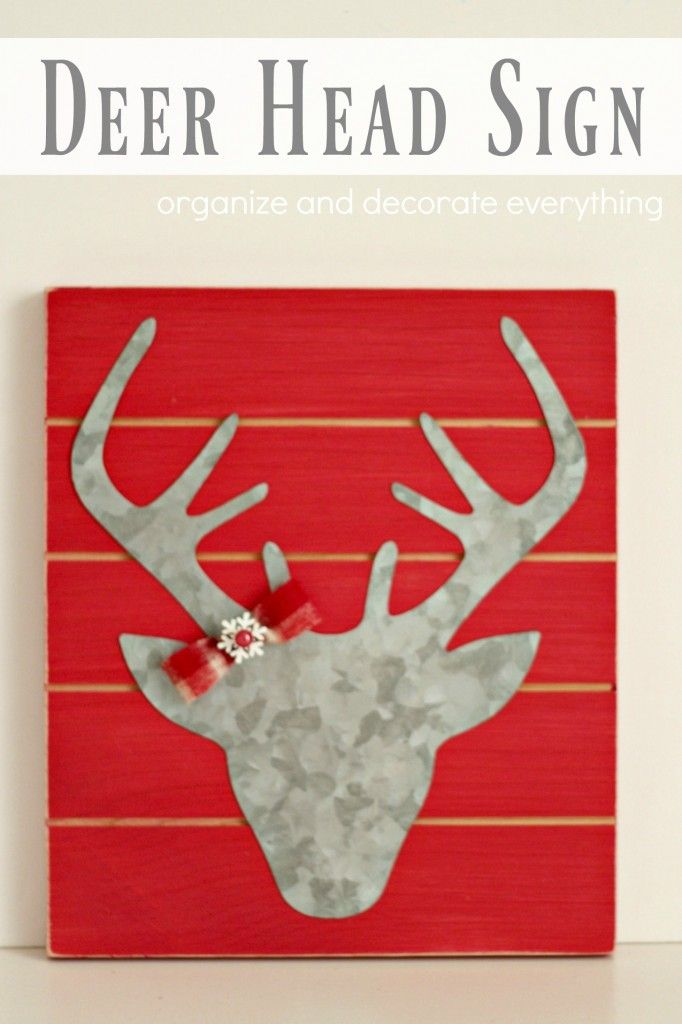 metal-deer-head-sign Organize and Decorate Everything | Organize ...