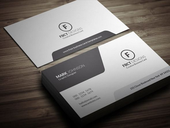 Clean Monochrome Business Card Template Free Download Cv00008