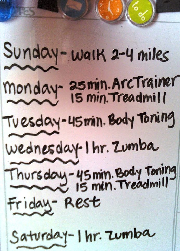 One Week Work-Out Plan