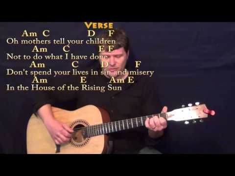 House Of The Rising Sun Guitar Fingerstyle Cover With Chords