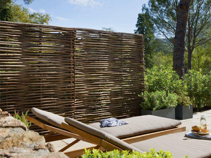 Panneau Droit Noisetier Panneau Brise Vue Design De Cloture Amenagement Jardin