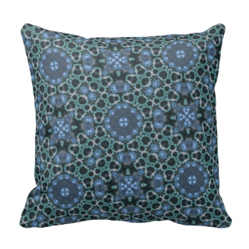 Blue ABstract Pattern with different shape pattern.