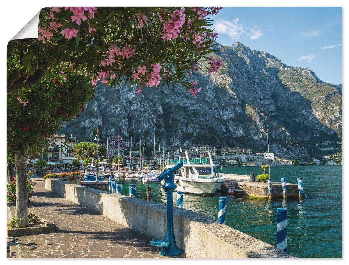 Photo of Cartel de la impresión del arte de Artland »M. Viola: Lago Garda Harbour & Waterfront «comprar en línea OTTO