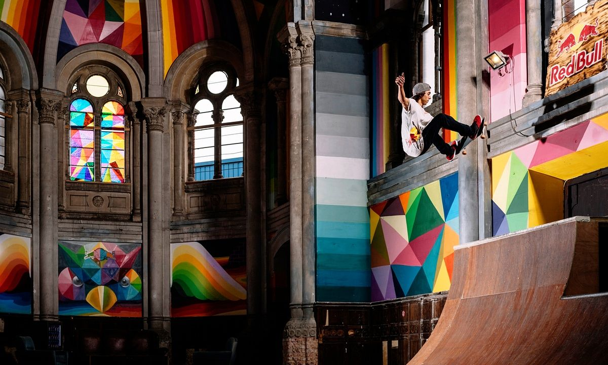 A group of skateboard enthusiasts and a Madrid street artist convert abandoned church into mural-covered skatepark