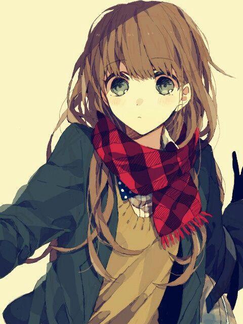 Pin On Manga Anime Girls With Brown Hair Green Eyes