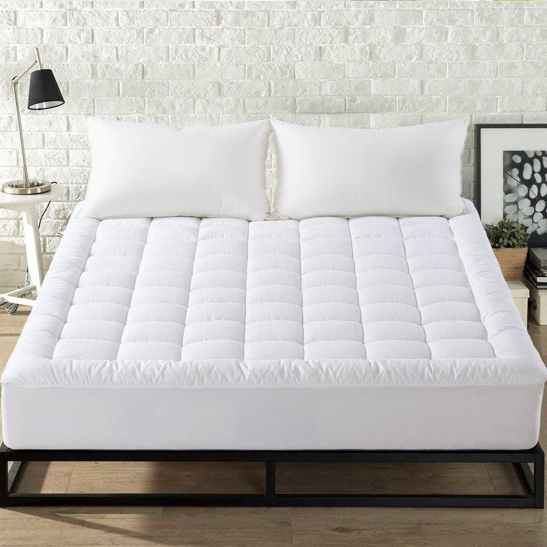 easeland luxury hotel quilted mattress pad cover 300tc 100 cotton