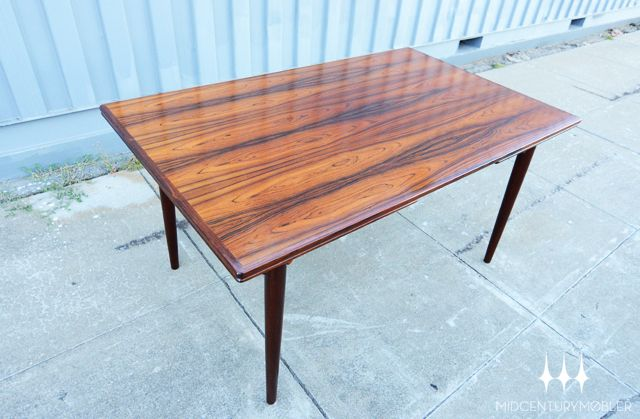 Brazilian Rosewood Draw Leaf Dining Table Was Designed By Gunni