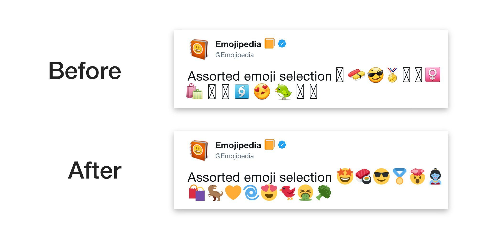 Twitter Is Now Using Its Own Emoji Tweemoji On Android Emoji Android Applications Android