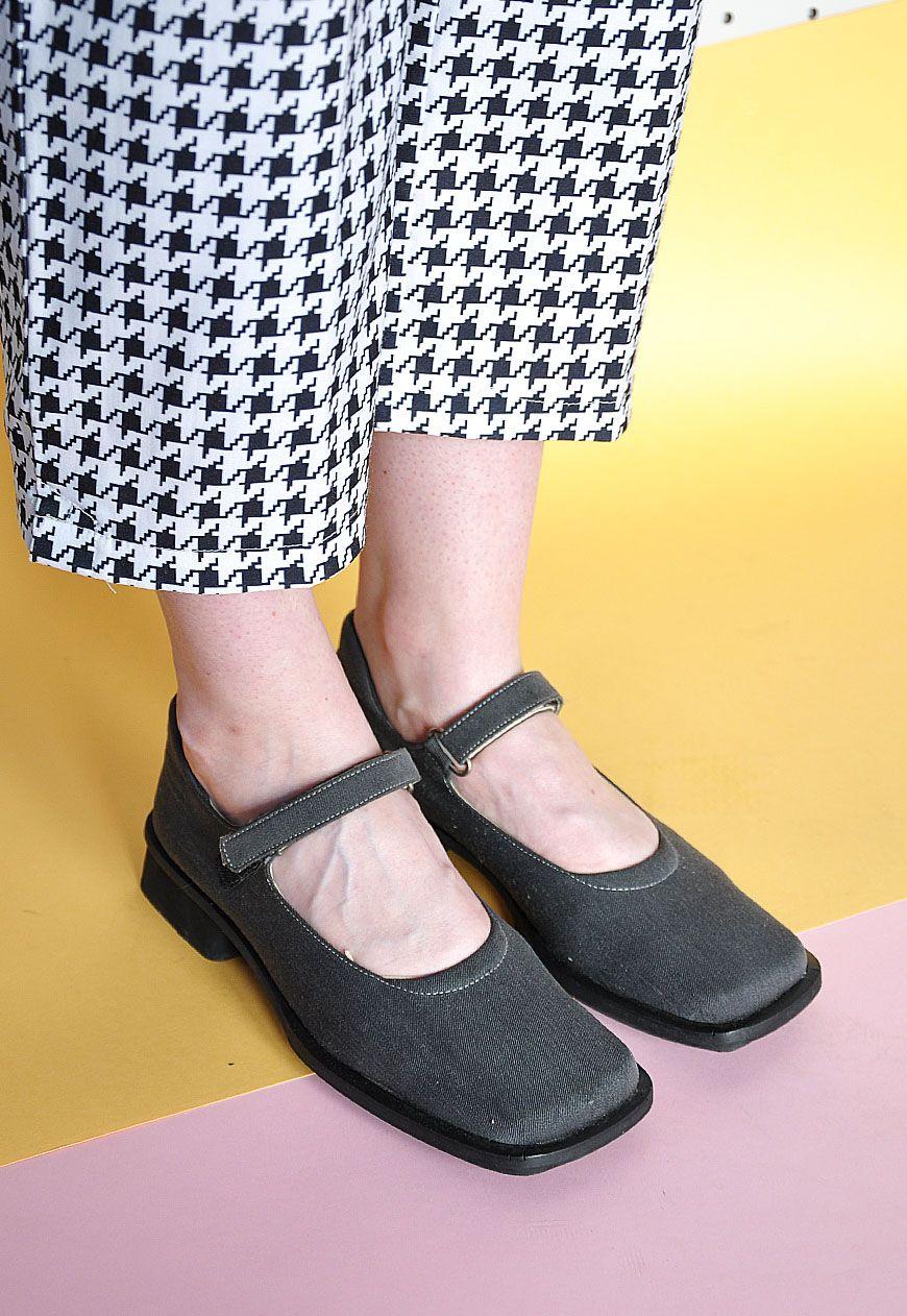 90s grunge denim sandals
