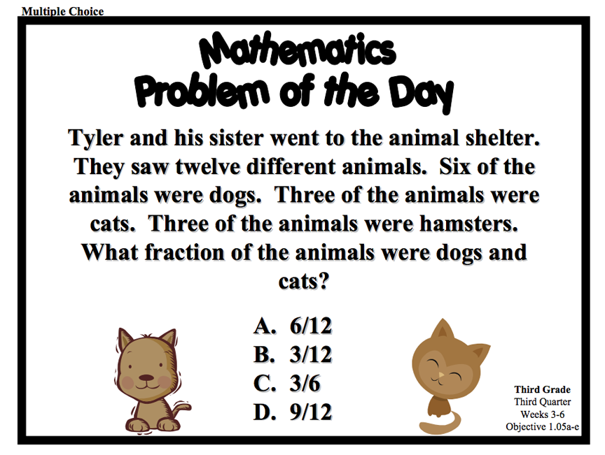 Download a series of Problem of the Day resources for Grade 3. FIles ...
