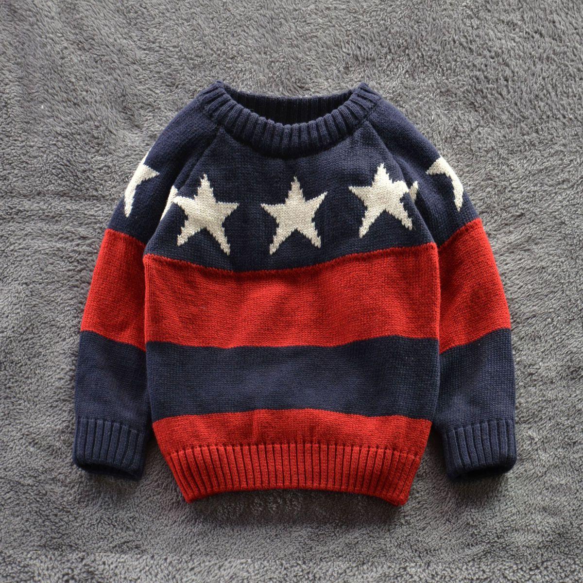Knitting Pattern Boys Sweater School 2016 new winter spring children ...