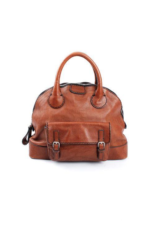 abeb9fed25d Chloé Edith Large Cognac Bowler Bag - $702 | Handbags | Bags ...