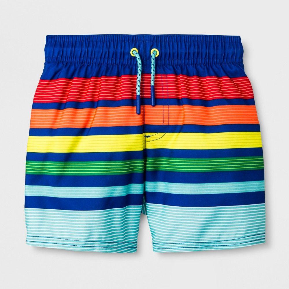 79beda1f39 Toddler Boys' Swim Trunks - Cat & Jack Blue 6 Gender: Male. Pattern ...
