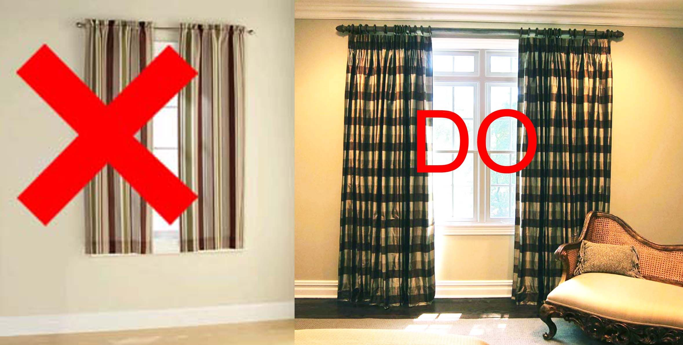 Short drape do don 39 t for the house pinterest window Bedroom curtain ideas small windows