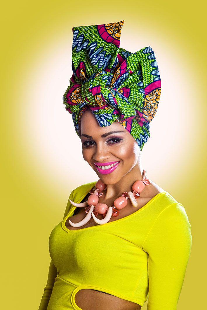 green-head-wrap african fabric head wrap Latest African ...