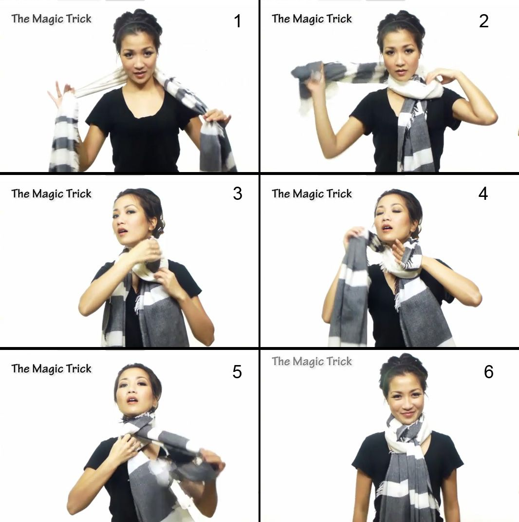 the-magic-trick-all1.jpg 1,066×1,071 pixels | Ways to wear a scarf ...