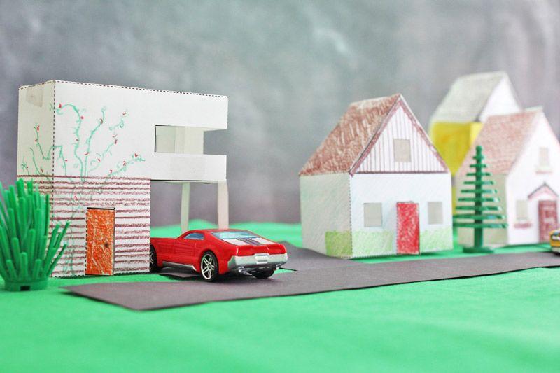 Design for Kids: Paper Houses // Diseño para niños: casas de papel  #kbn #kidsactivities #kidscrafts #activitiesforkids #parenting #craftforkids #diy #actividadesparaniños #actividadesniños #manualidades #manualidadesniños #ideasqueinspiran #kidsart #artwithkids #kidsProject #paper #paperhouses #papel