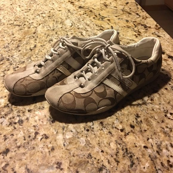 Coach shoes Coach shoes, Size 8, normal wear on them but still lots of life. Make me an offer! Coach Shoes Sneakers