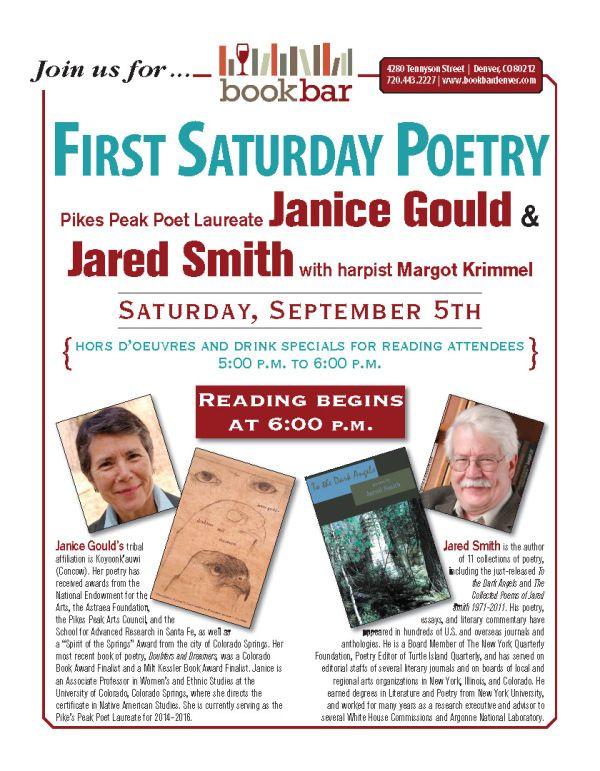 Gould | Smith | Krimmel at BookBar September 5th