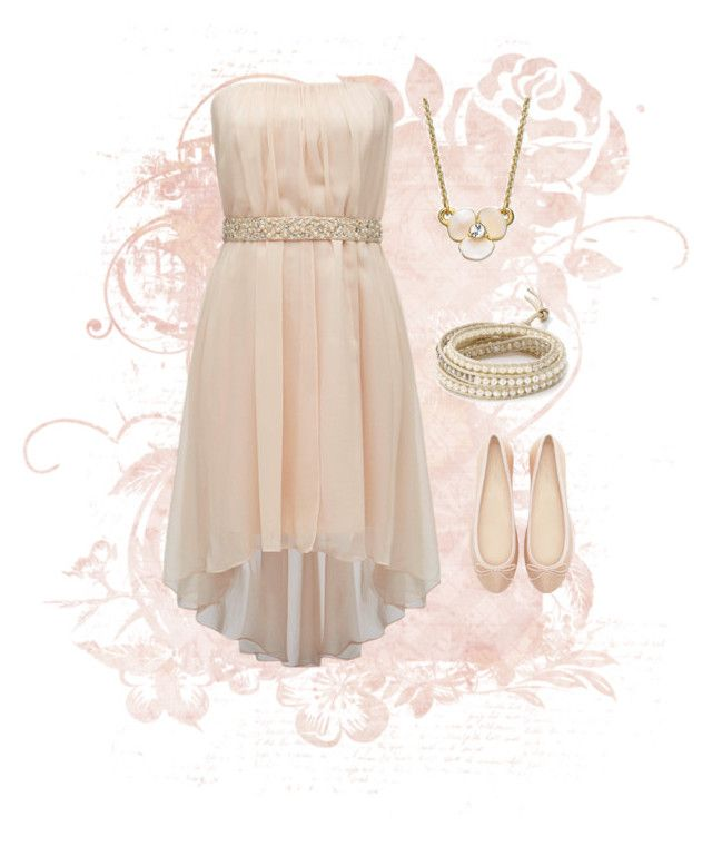 """""""Blush"""" by foodforever ❤ liked on Polyvore featuring Forever New, Zara, Chan Luu and Kate Spade"""