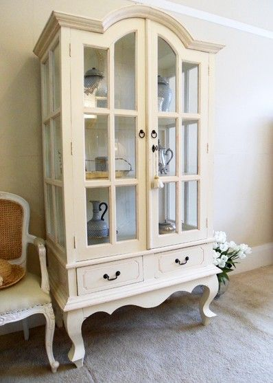 House Large Two Door Glass Cabinet Large French Provincial Glass